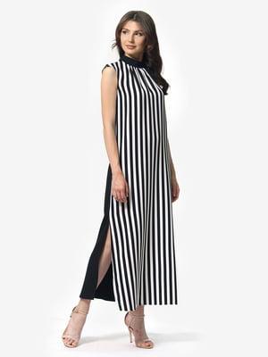 Платье черно-белое в полоску | 5621196