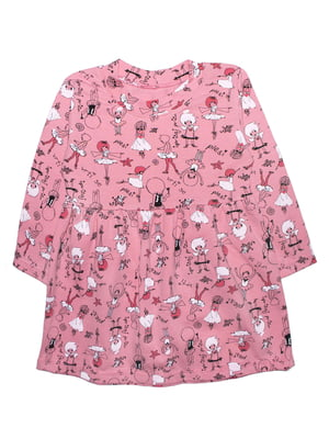 Платье розовое в принт   5625436