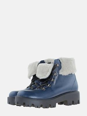 Ботинки синие | 5621814