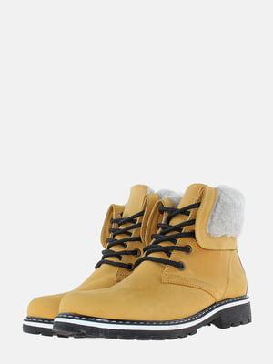 Ботинки цвета охры | 5621819