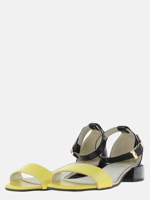 Босоножки черно-желтые | 5625622