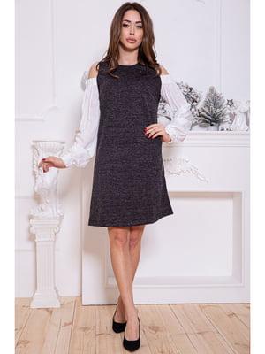 Платье темно-серое | 5306291