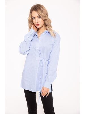 Блуза бело-голубая | 5322275