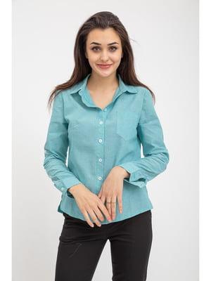 Рубашка мятного цвета | 5349175
