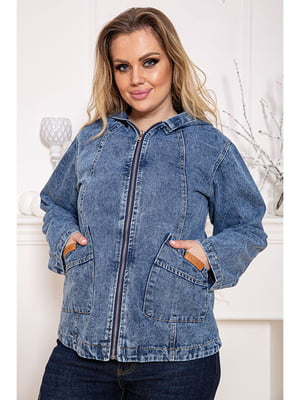 Куртка джинсовая синяя | 5624948