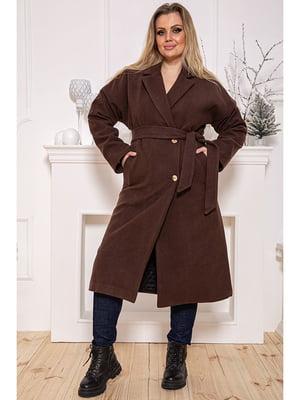 Пальто коричневое   5625034