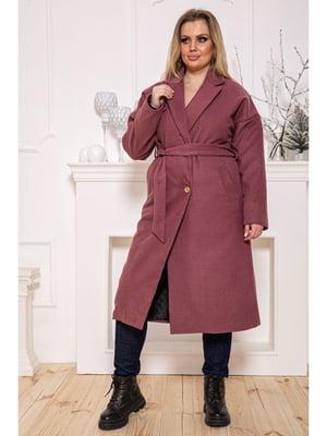 Пальто сливового кольору | 5625035