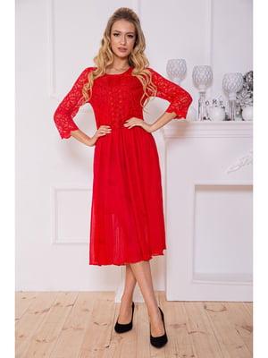 Сукня червоного кольору з візерунком | 5625091