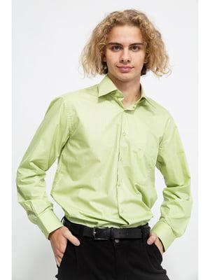Сорочка салатового кольору в смужку | 5625115