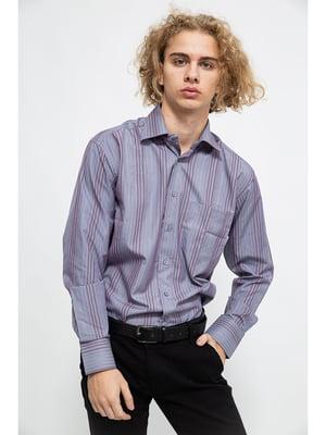 Рубашка фиолетовая в полоску | 5625119