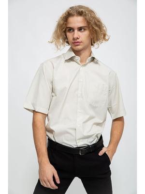 Рубашка оливкового цвета в мелкую клетку | 5625121