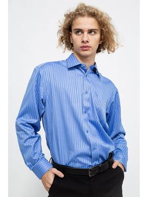 Рубашка синяя в полоску | 5625122