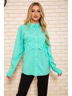 Рубашка мятного цвета | 5625127
