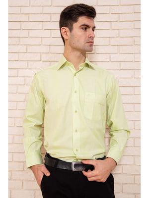 Рубашка салатового цвета в полоску | 5625134