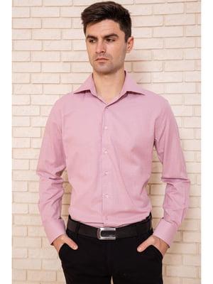 Рубашка цвета пудры в мелкий цветочный принт | 5625136