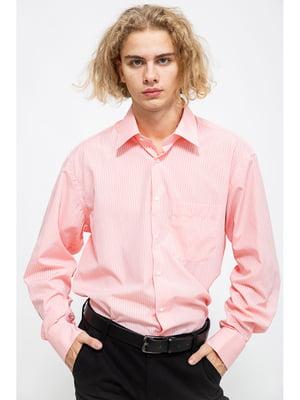 Сорочка рожевого кольору в смужку | 5625139
