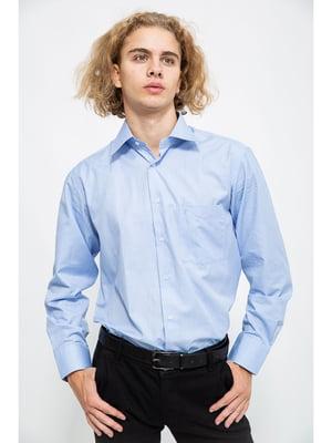 Рубашка голубого цвета в полоску | 5625147