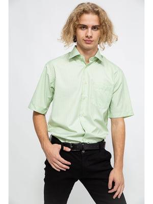 Сорочка салатового кольору в смужку | 5625150