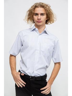 Сорочка блакитного кольору в смужку | 5625156