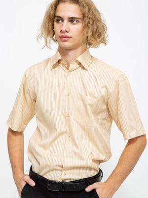 Сорочка пісочного кольору в смужку | 5625158