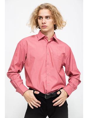 Сорочка рожевого кольору в дрібну клітинку | 5625162
