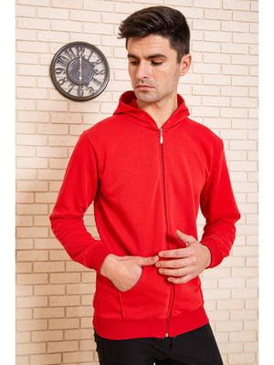 Толстовка спортивная красного цвета | 5625289