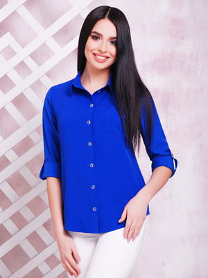 Рубашка цвета электрик | 5625543