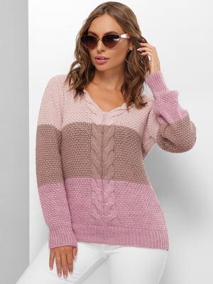 Пуловер трикольоровий | 5625559