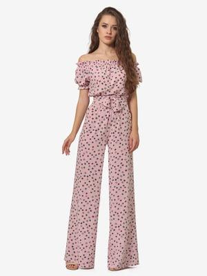 Комбинезон розовый с принтом | 5626207