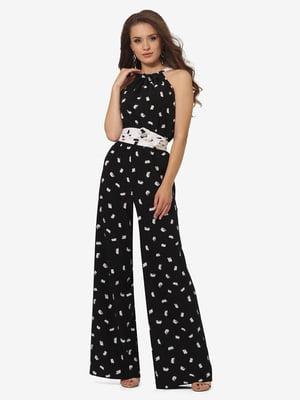 Комбинезон черный с принтом | 5626211