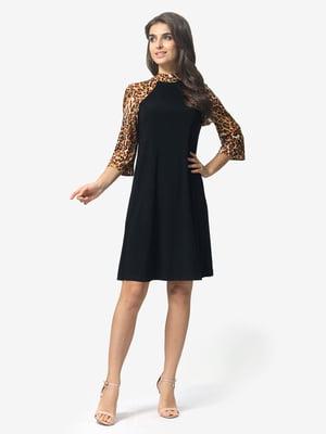 Сукня чорна з анімалістичним принтом   5626223
