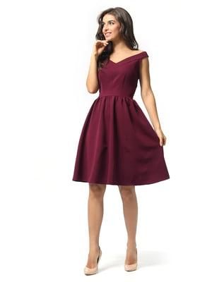 Платье бордовое | 5626248