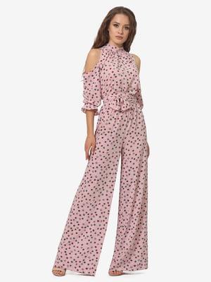 Комбинезон розовый с принтом | 5626264