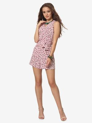 Комбинезон розовый с принтом | 5626275