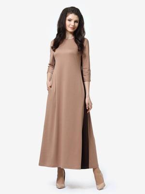 Сукня бежево-коричнева | 5626182