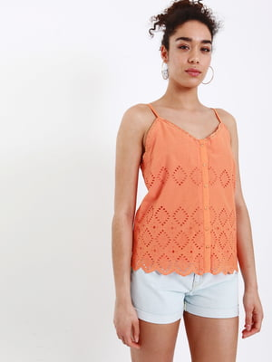 Топ оранжевого цвета | 5401112