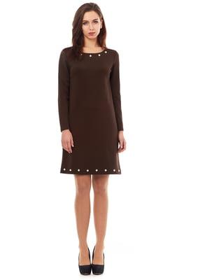 Платье шоколадного цвета | 5267339