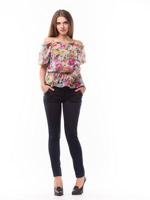 Блуза різнокольрова в принт | 5627581