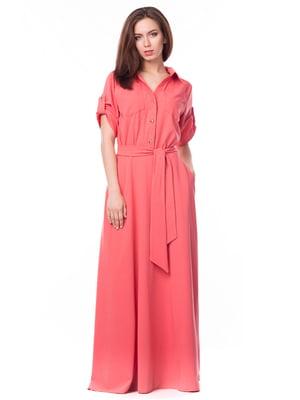 Платье кораллового цвета | 5627595