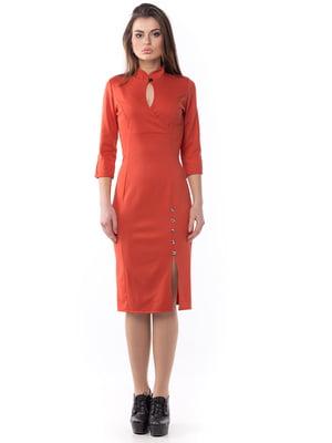 Платье терракотового цвета   5627598