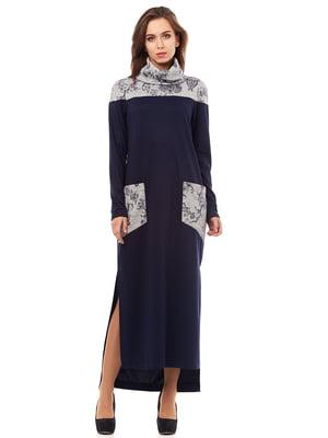Платье темно-синее | 5627651