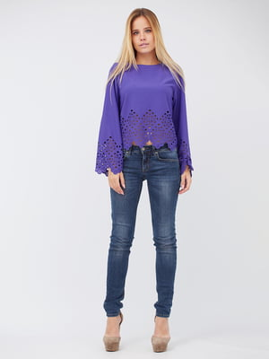 Блуза сиреневого цвета | 5627720