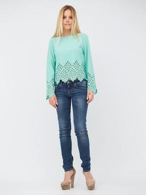 Блуза м'ятного кольору | 5627721