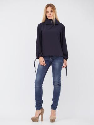 Блуза темно-синя | 5627729