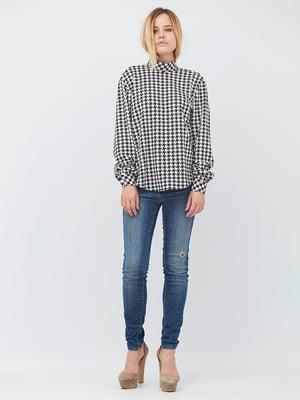 Блуза белая в принт | 5627735