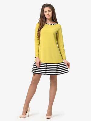 Сукня гірчичного кольору в смужку | 5626101
