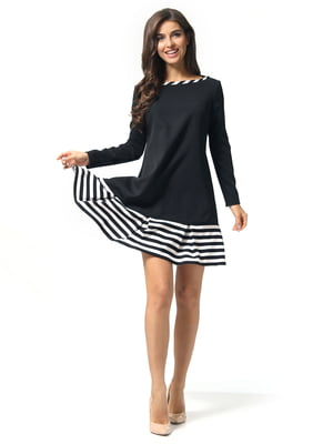 Платье черное в полоску | 5626102