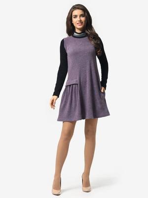 Платье черно-сиреневое | 5626103