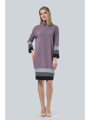 Сукня фрезового кольору в смужку | 5626610