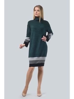 Платье изумрудного цвета в полоску | 5626611